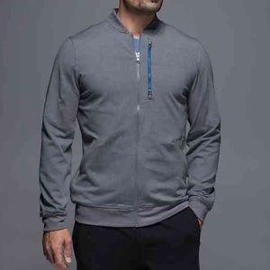 LULULEMON gray zip six pack jacket